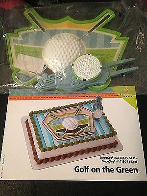 DecoPac GOLF ON THE GREEN BIRTHDAY CAKE TOPPER DECORATING KIT NEW