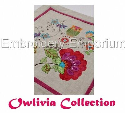 Owlivia Collection - Machine Embroidery Designs On Cd Or Usb