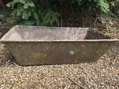 Antique cast iron water trough/planter
