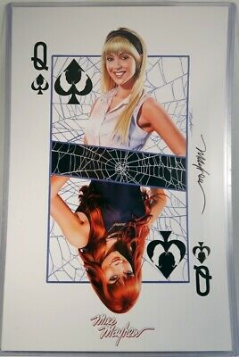 Gwen Stacy & Mary Jane Spade Card Art Print Signed by Mike Mayhew