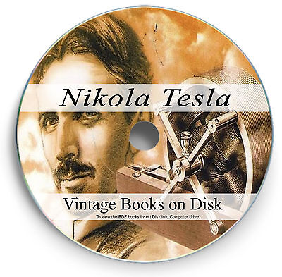 Rare Vintage Books Nikola Tesla on DVD my Coil Inventions Patents Biography 279
