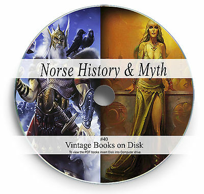 Rare Books on DVD Norse Viking Legend Mythology Gods Thor Odin Valhalla Runes 40