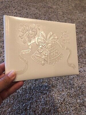 New Hallmark Wedding Guest Signature Book Classy classic Bells With Box