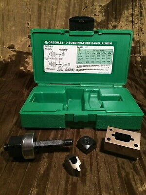 Greenlee 229 9-Pin D-Subminiature Panel Punch Very Good Condition