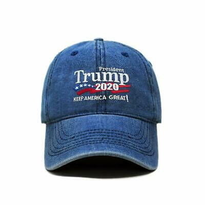 Trump 2020 Keep America Great Campaign Embroidered USA Hat Light Denim Quick Dry