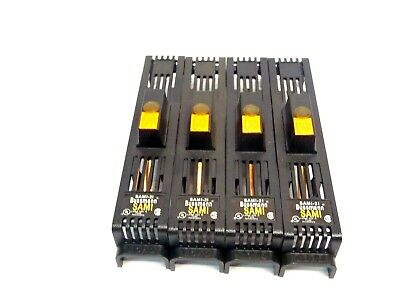 Lot of 4 Bussmann SAMI-2I Indicating Fuse Cover for 600V RK K5 H 0-30A Fuses