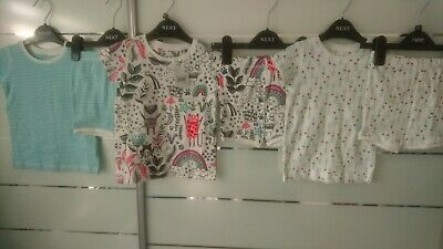 NEW 6x NEXT SUMMER BUNDLE OUTFITS TOPS SHORTS BABY GIRL 12-18 MTHS