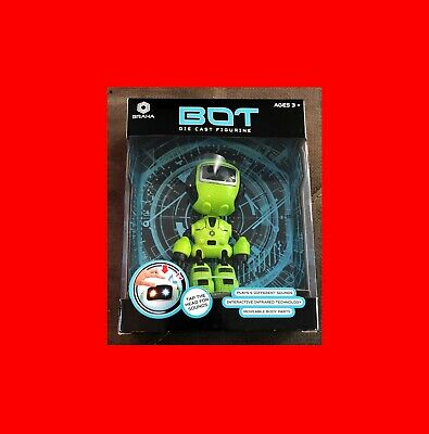 "New Braha Green Bot Die Cast""R2D2 Sounds""+Sensor,Movable^poseable Toy Robot Gift"