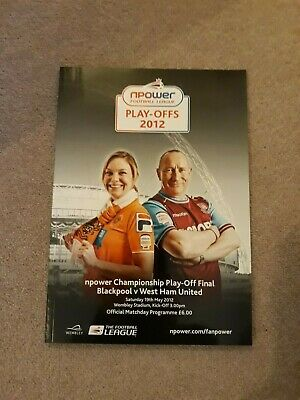 Programme Blackpool V West Ham 19.05.12 Championship Play Off Final Wembley Mint