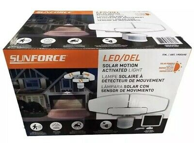 Sunforce 1500 Lumen LED Motion Sensor Security Light / Floodlight & Solar Panel