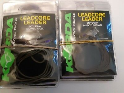 15mtrs IN WEEDY GREEN FOR CARP FISHING KORDA KABLE XT EXTREME LEADCORE 70lb