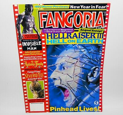 Fangoria #110 Horror Magazine 1992 Hellraiser III John Carpenter