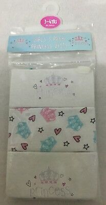 Girls 3 Pack Princess Vests Age 3-4 Years Old Princess Gift Birthday Present