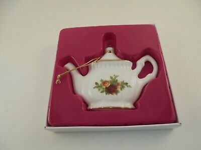 Royal Albert Old Country Roses Teapot Christmas Ornament