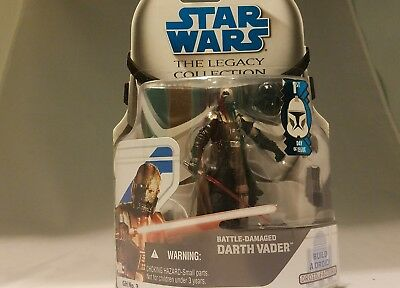 DARTH VADER moc BATTLE-DAMAGED 1ST DAY ISSUE hasbro 2008 the legacy collection!