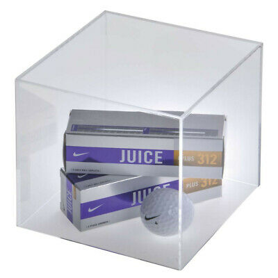 Perspex Cube Box Clear Acrylic Display Case Plastic, Set of 2, 200mmx200mmx200mm