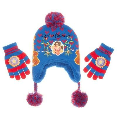 official photos 59f3b d9538 Disney Princess Elena of Avalor Winter Beanie Laplander Sherpa Hat Gloves  Set