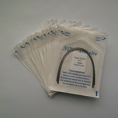 50 Packs Dental Orthodontic Super Elastic Arch Wires Ovoid Form Round Niti Wire