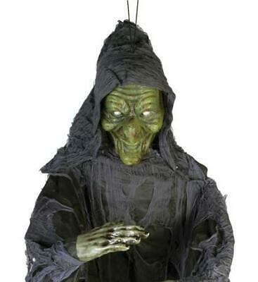 4 Ft HANGING WITCH HALLOWEEN Prop Outdoor Yard Decoration HAUNTED HOUSE SPIRIT