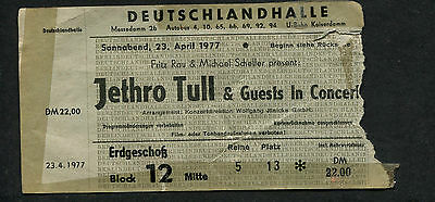 1977 Jethro Tull Concerto Ticket Stub Songs From The Wood Berlin Germania