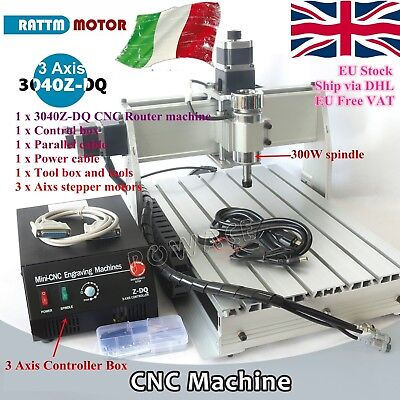 3 Axis 3040Z-DQ LPT 300W DC CNC Engraving Cutting Milling Router Machine 220V UK