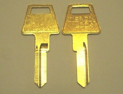 American Lock R8 Restricted Keyway Key Blank 6 Pin Lot of 2