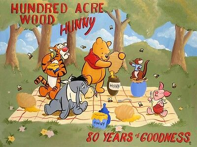 Hundred Acre Wood - Tricia Buchanan-Benson - Limited Edition Giclee On Canvas