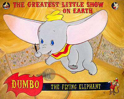 Big Top Dumbo- Tricia Buchanan-Benson - Limited Edition Giclee On Canvas