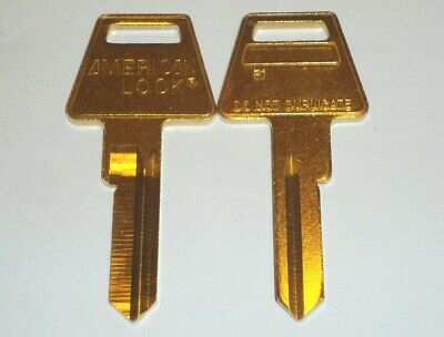 American Lock R1 Restricted Keyway Key Blank 6 Pin Lot of 2