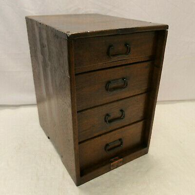 Antique Sugi Wood Document Office Box Japanese Drawers Circa 1900s #928
