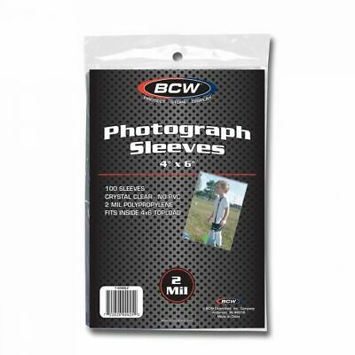 "(100-Pack) BCW 4"" x 6"" Photograph Sleeves Card Pictures Postcards Archival Safe"