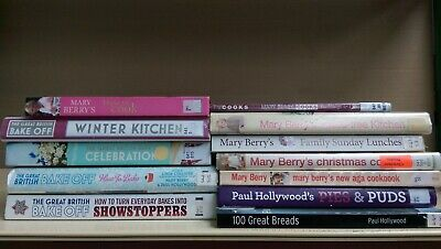 Great British Bake Off / Mary Berry Job lot box of 12 cookery/cooking/cook books