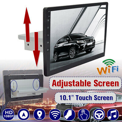 10.1 height Adjustable Android 8.1 Car Wifi bluetooth Radio Stereo 1Din GPS Navi
