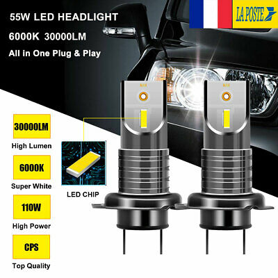 110W 30000LM H7 CREE LED 5050 puce ultra brilliant phare lampe Kit ampoule 6000K