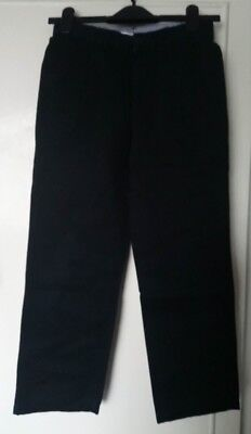 boys M&S navy blue trousers age 11