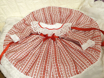Dream Puffball Snowflakes Collared Xmas Dress Sale Reduced To Clear