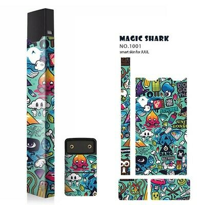 Magic Shark 3M 2.5D Stereo Sticker Skin Decal Wrap Compatible For Juul00 HQYL