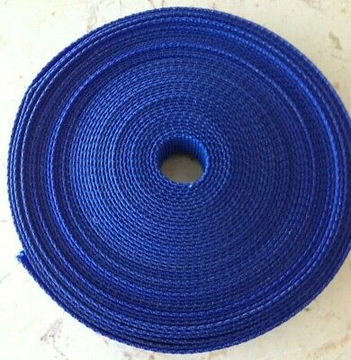 Webbing blue 25 mm Polyester very strong tough industrial quality 4 metre length