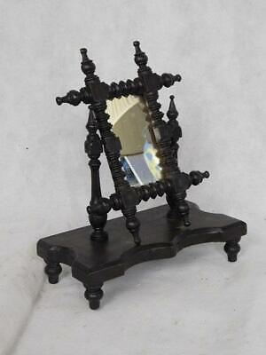A Good Antique Miniature Apprentice Piece Bobbin Turned Swing Mirror