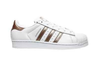 separation shoes eda42 cf6a7 Adidas Superstar W Scarpa Da Ginnastica Da Donna Bianco Oro Originale B41513