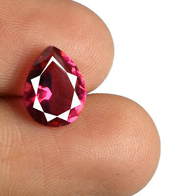 Burma Ruby Loose Gemstone Pear 2.15 Ct  Certified 100% Natural