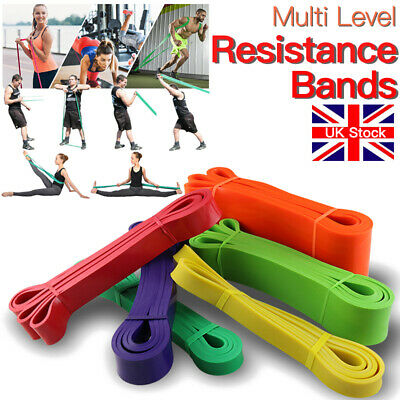 6pcs Resistance Band Set Heavy Gym Fitness Exercise Training Leg Workout Booty