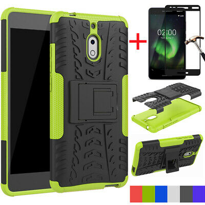 For Nokia 2V/2.1 Case Shockproof Armor Dual Rugged Hybrid Stand Rubber TPU Cover