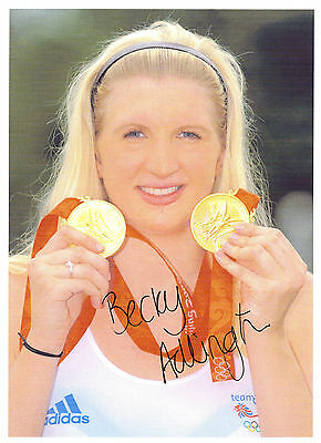Hand Signed 8x12 photo BECKY ADLINGTON - LONDON Olympics 2012 - GOLD MEDAL