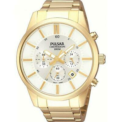 Pulsar Chronograph Gold Plated Mens Watch PT3342X1