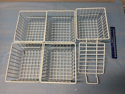 Lot of Five (5) Coated Wire Baskets