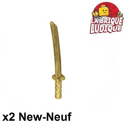 Lego Weapon Sword Cutlass Elaborate with Pearl Gold Handle W#1