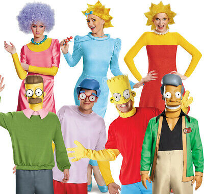 Official Licensed The Simpsons Costume  Cartoon Fancy Dress Choose Character