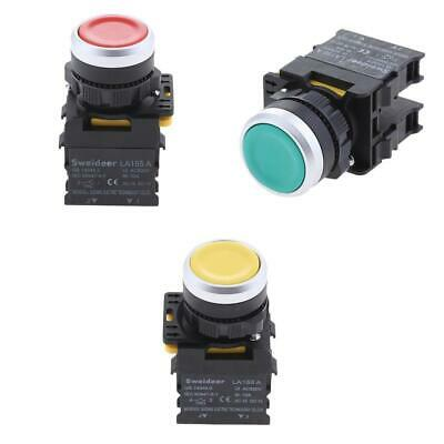3x AC600V 10A 1NO 1NC DPST 22mm Panel Mount Momentary Push Button Switch