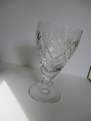 Royal Doulton Georgian Pattern Lead Crystal 11.2 Cm Sherry Glass Signed